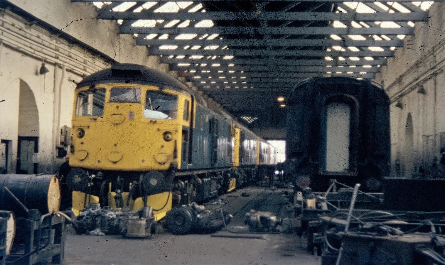 Class 26 - Inverness - diesel locomotive - old railway photo