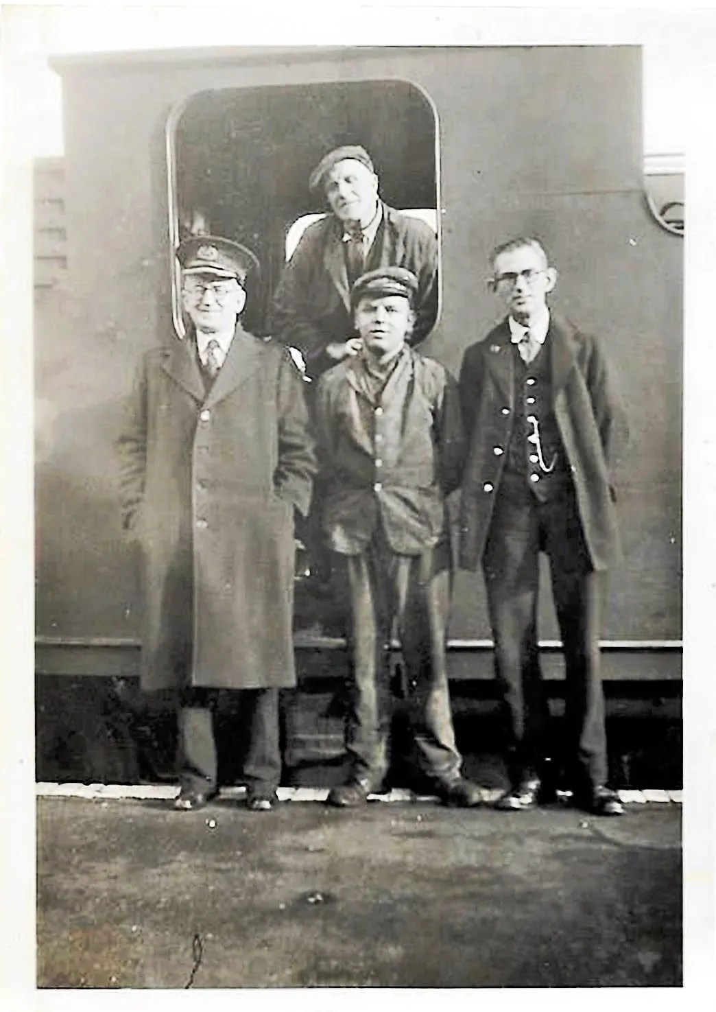Sidmouth railway station staff January 1946