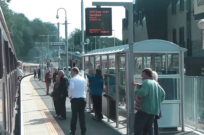 Galashiels railway station - waverley route