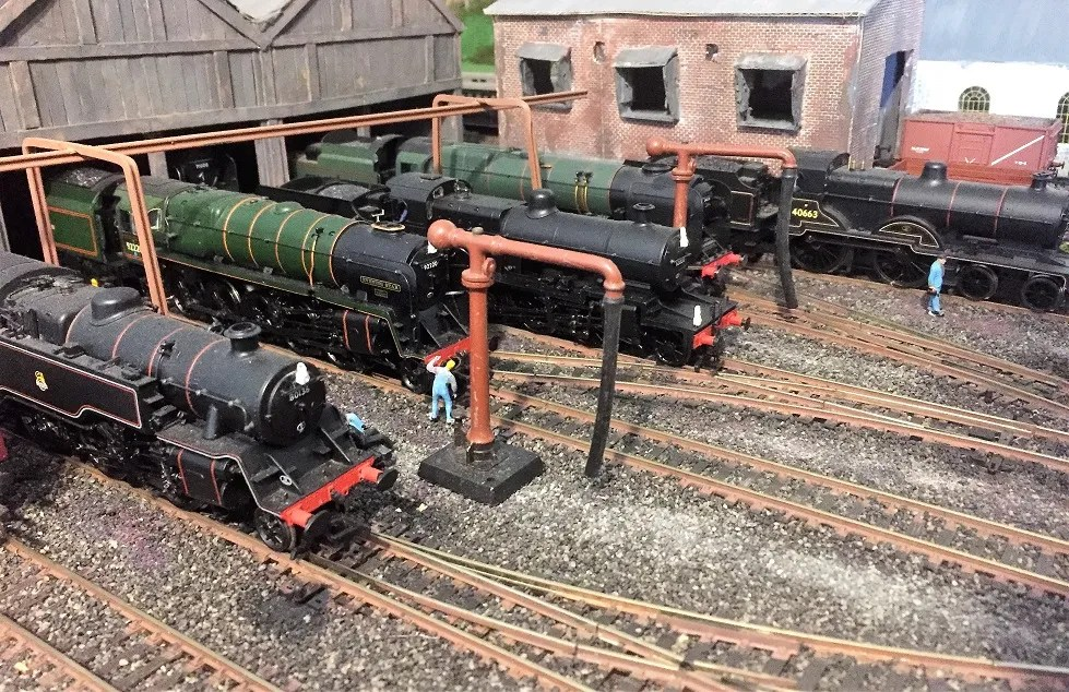 Model railway 00 gauge - Locos awaiting next turn of duty