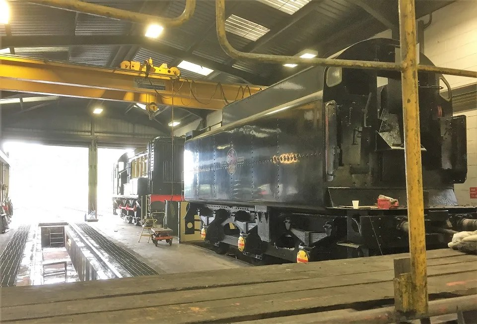 Class 08 shunter on shed