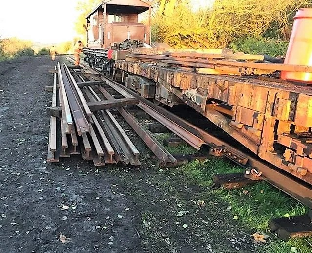 Rails delivered for somerset and dorset railway extension