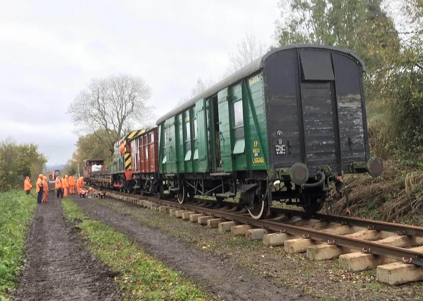 Newly laid track on the old Somerset and Dorset Joint Railway