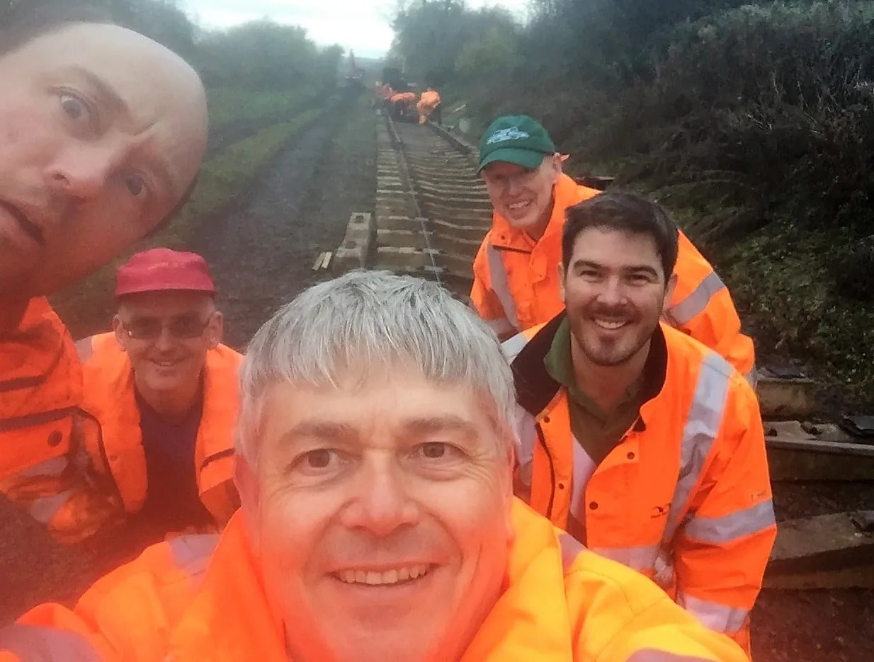 P-Way railway team at the Somerset and Dorset Railway