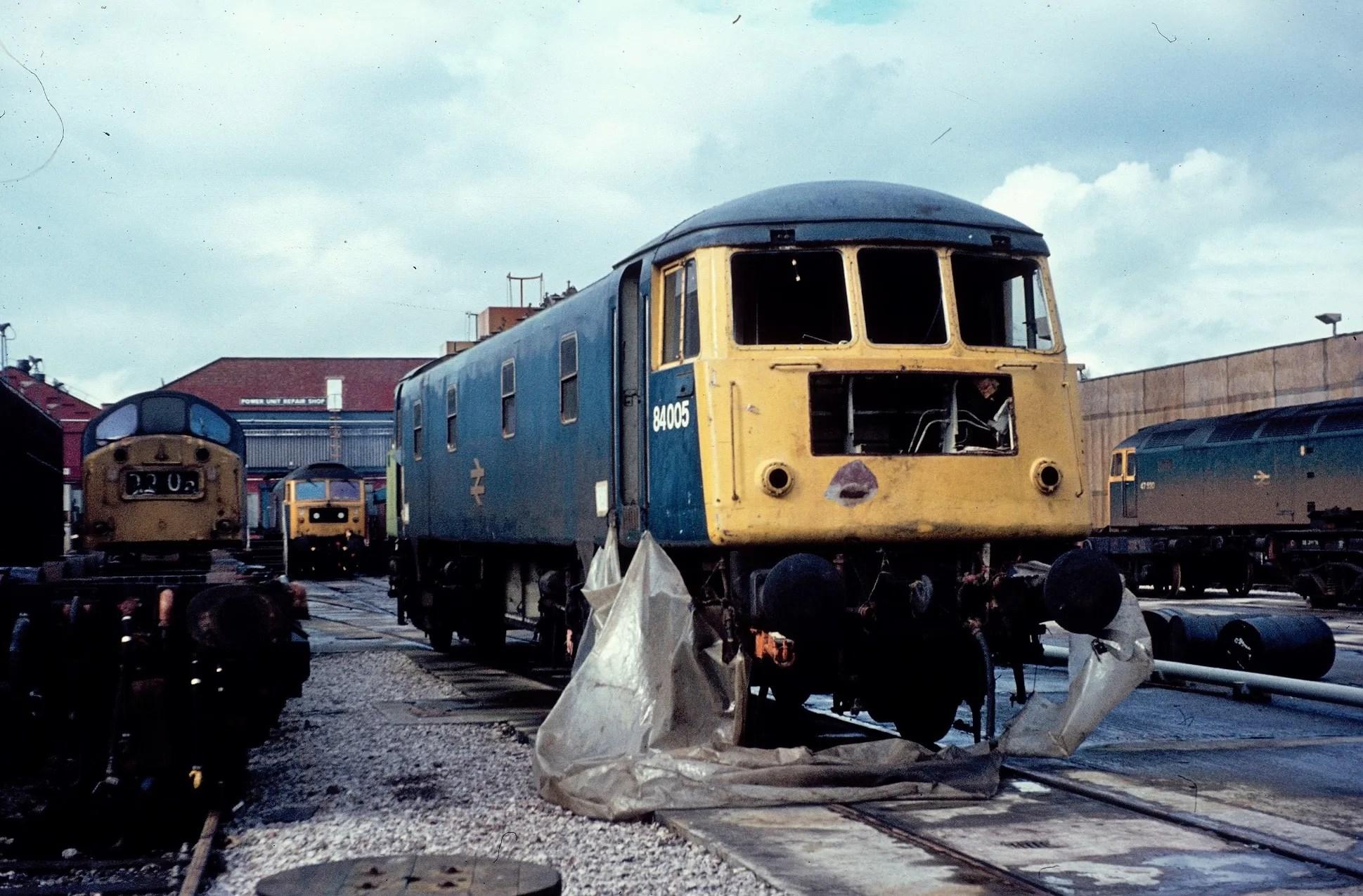 Class 84 locomotive at Crewe Works
