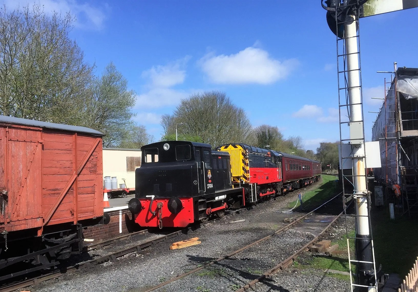 North British diesel shunter works no 27414 at Telford Steam Railway
