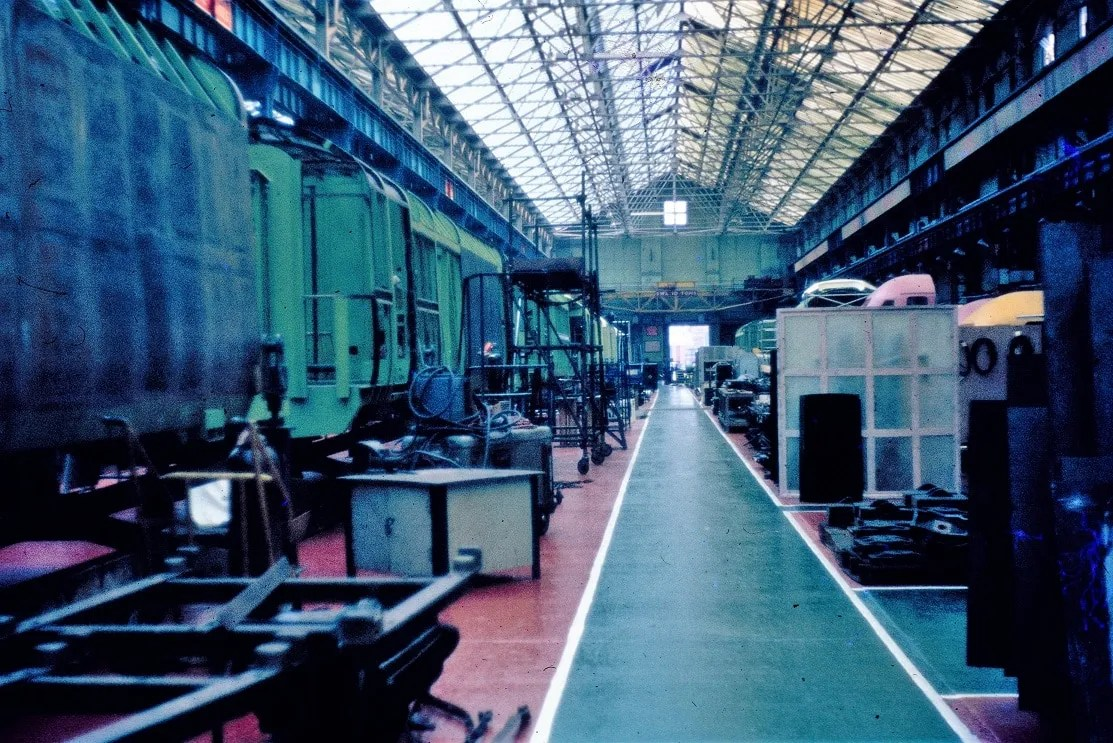 HST erecting shop at Crewe Works