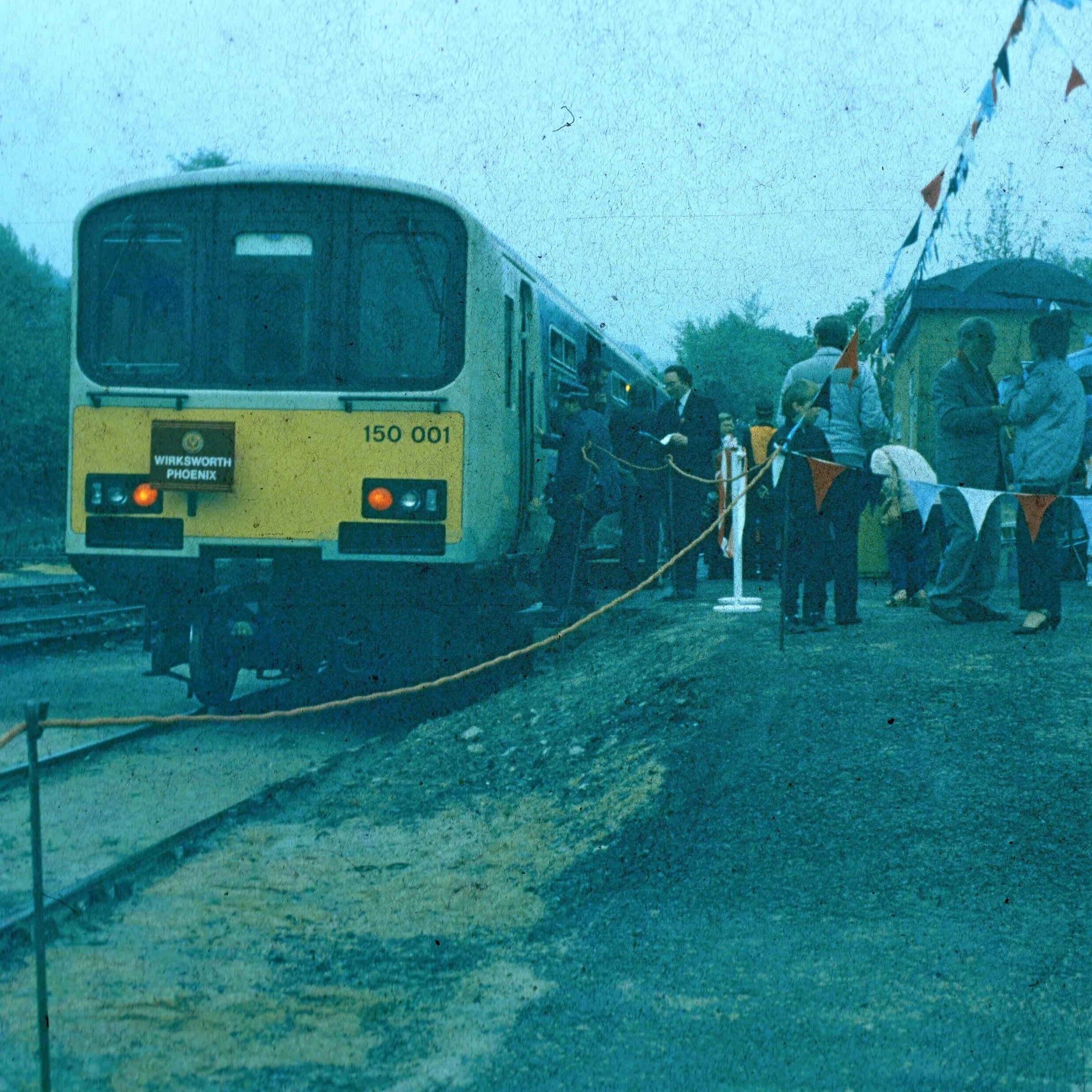 Class 150 prototype DMU 150001 on Wirksworth Phoenix