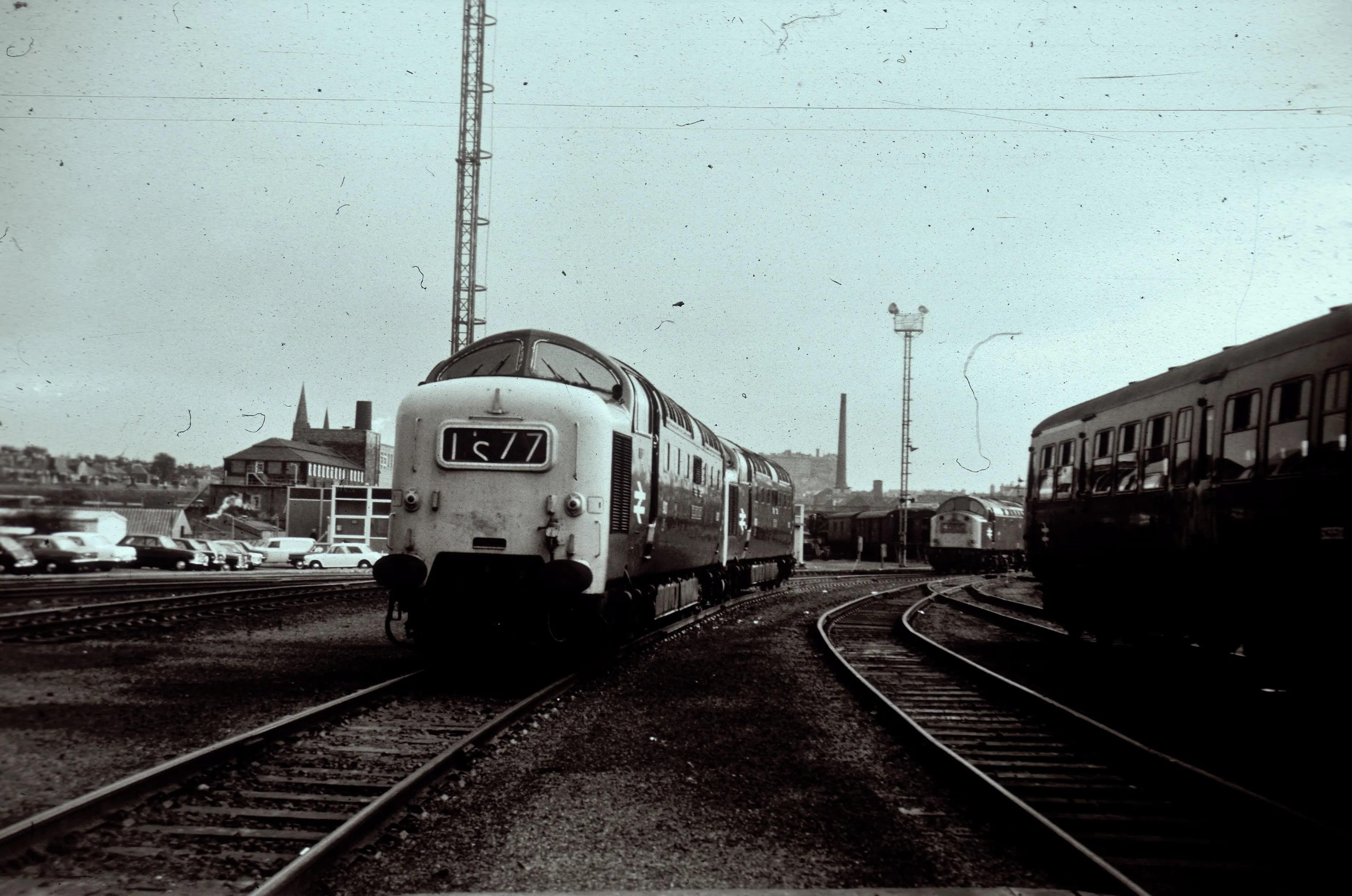 Deltic locomotives at Haymarket Railway Depot