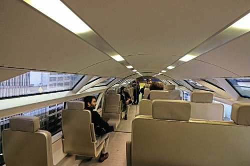 The upper deck of the carriage, which some may find claustrophobic.