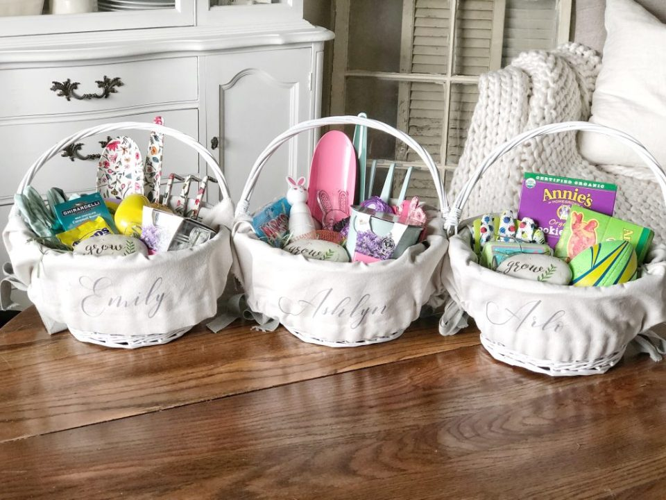 Budget friendly easter baskets with less candy family traditions these white baskets are from target and were 5ea you can usually find the 5 baskets in both white and natural every year at target negle Gallery