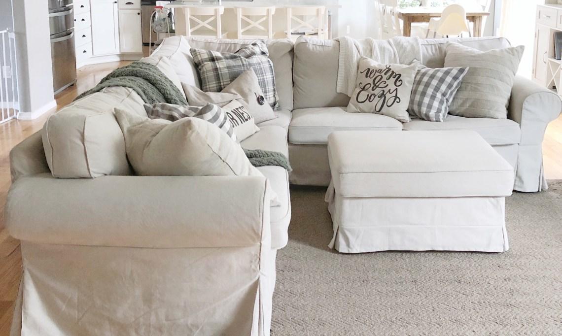 Wondrous Ikea Ektorp Beige Slipcovered Couch Care An Easy Fast Uwap Interior Chair Design Uwaporg