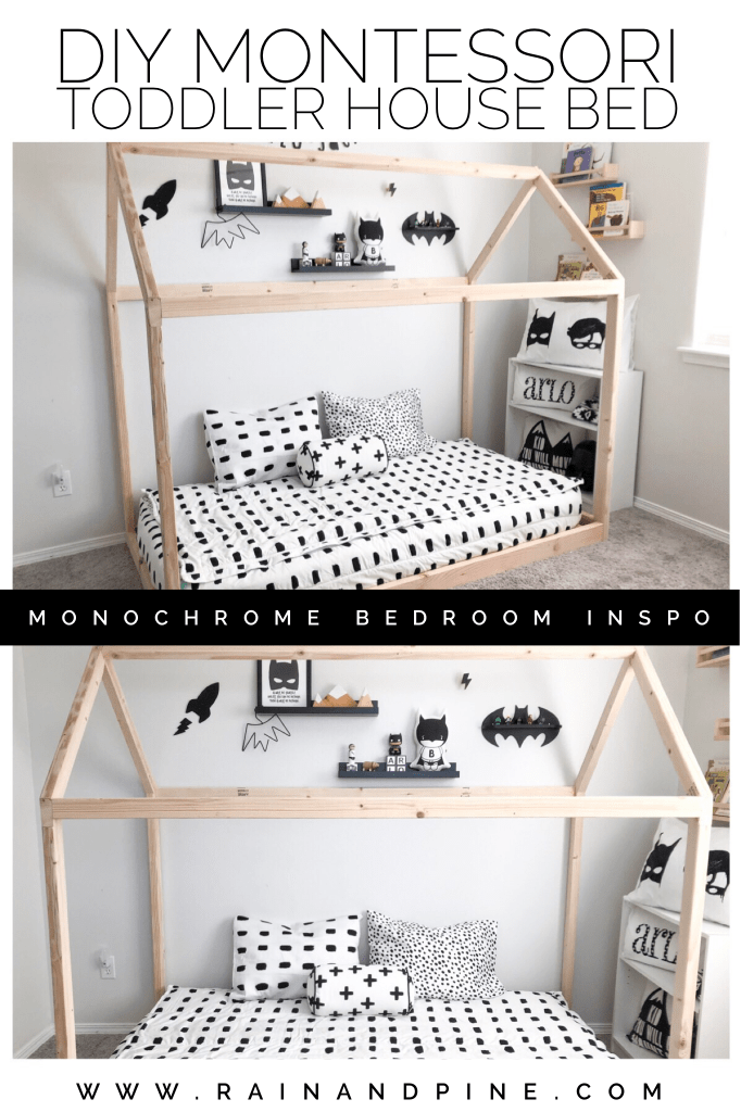 DIY Montessori Floor House Bed {Arlo's monochrome toddler ...