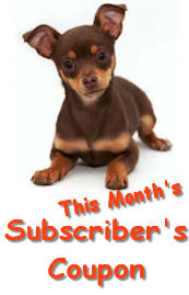 This month's subscriber's coupon