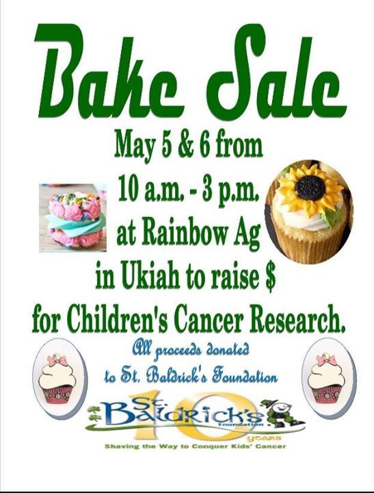 Bake sale to benefit childhood cancer research