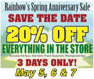 Spring Sale May 5. 6. & 7