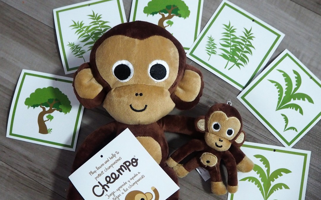 {3 countries Giveaway} Support the cause of Chimpanzees and win Cheempo