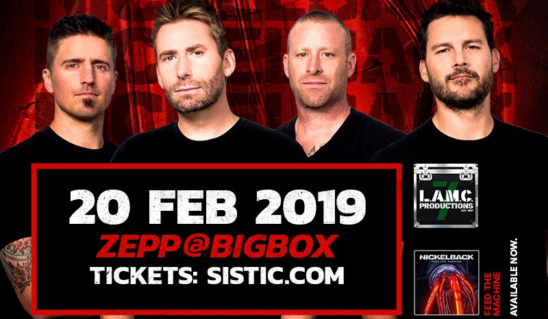Canadian Rock Sensations NICKELBACK, to rock Singapore for the first time!