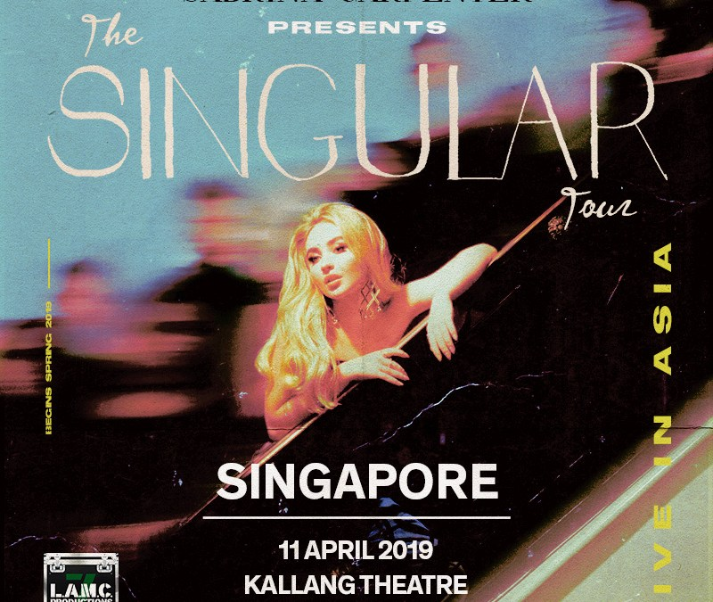 The Singular Tour by Sabrina Carpenter comes to Singapore this April