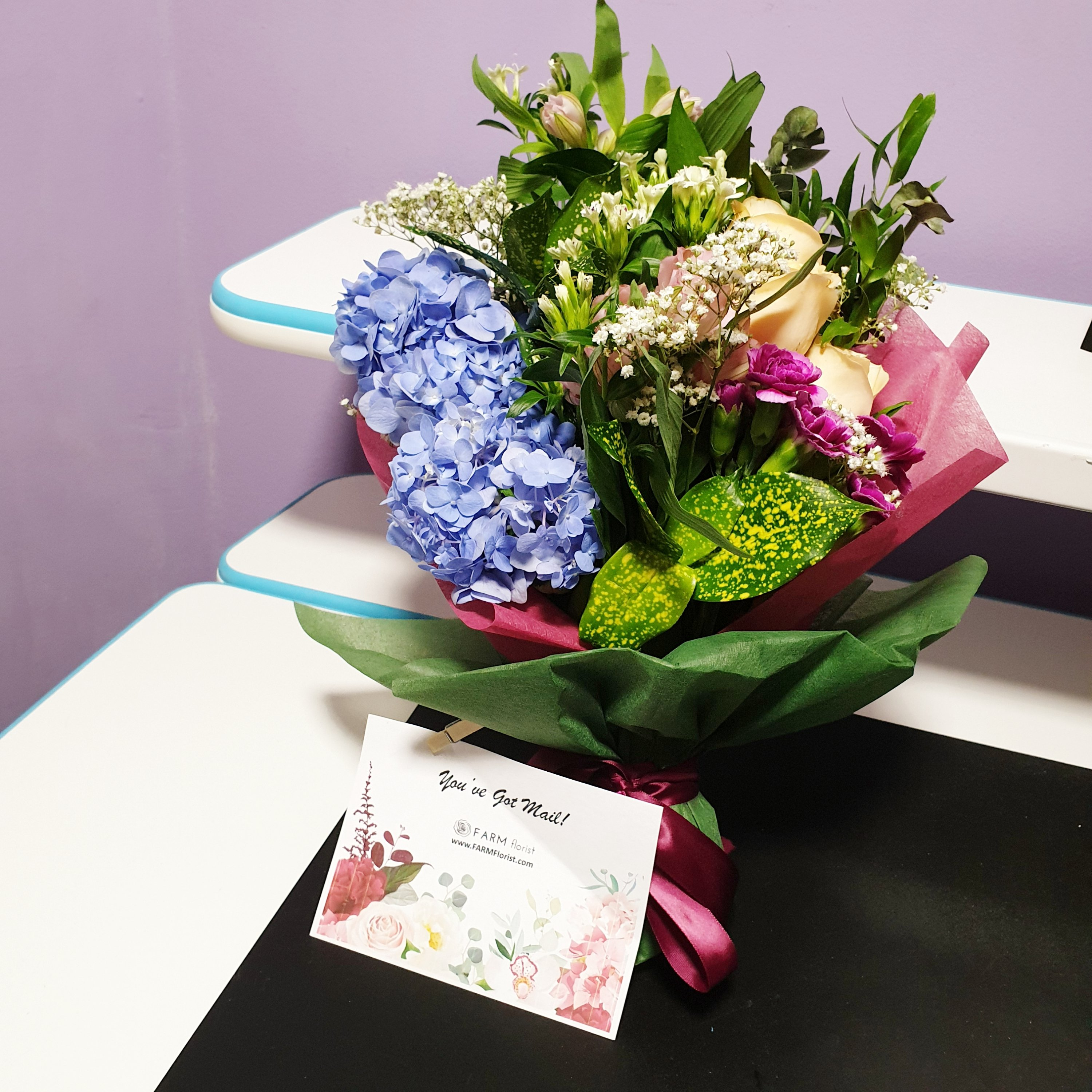 F for Flowers from Farm Florist