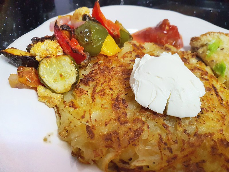 Easy recipe: Potato Rosti with Roasted Vegetables