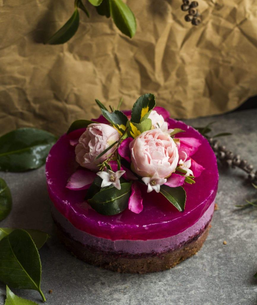 pitaya layer cake vegan 2