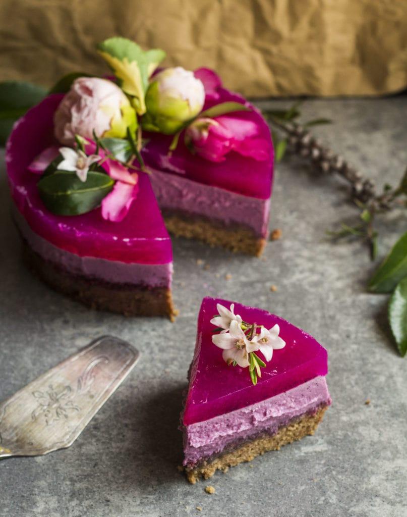 pitaya layer cake vegan 3