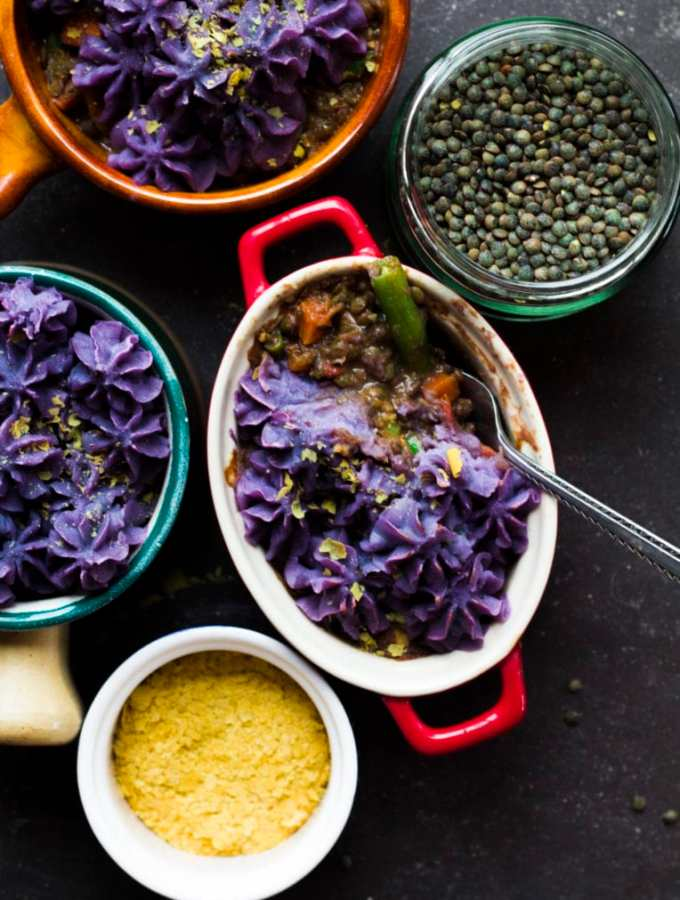 Lentil and Purple Sweet Potato Shepherd's Pie
