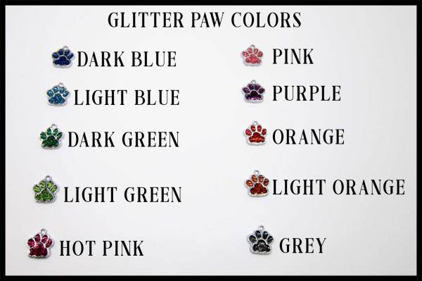 Glitter Paw Color Choices