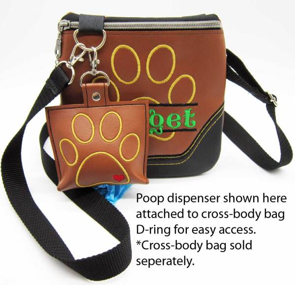Poop Bag Accessory Attached Brown