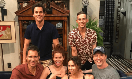 Will and Grace, prima foto dal set con Matt Bomer, Adam Rippon e Minnie Driver.