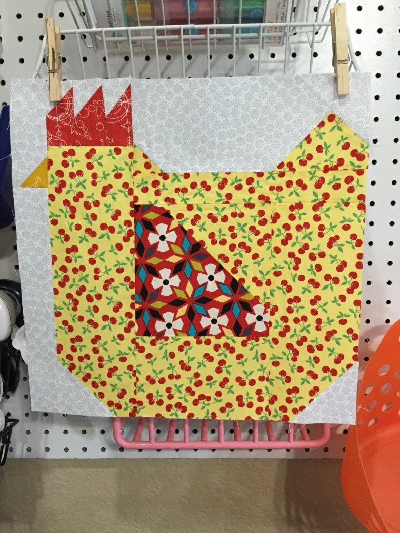 Rooster Quilt Block