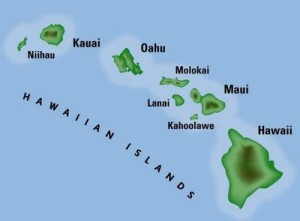 Map of Hawaiian Island Chain
