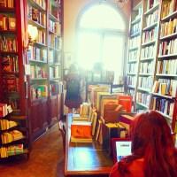New Orleans Faulkner House Books Inside Window