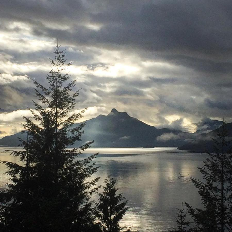 Howe Sound, at sunset.