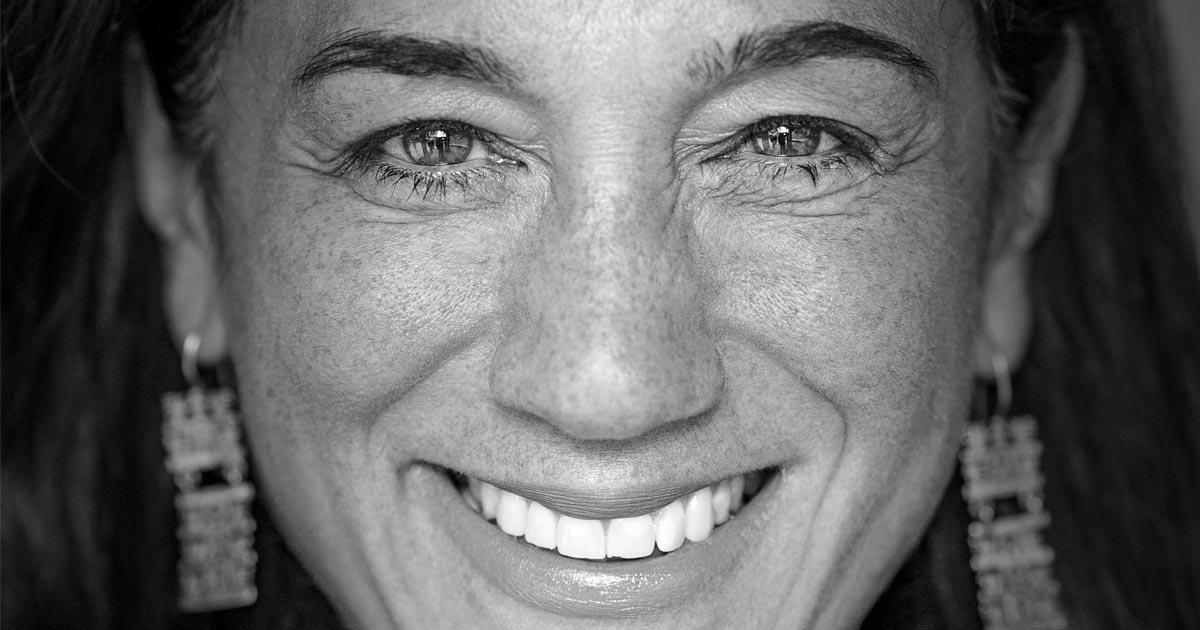 Cristina Mittermeier close up and smiling the biggest super smile ever.