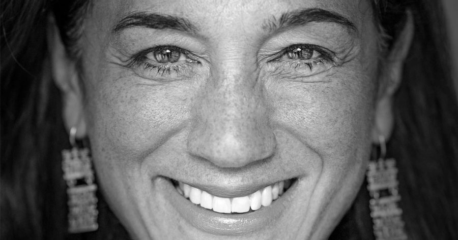 Cristina Mittermeier close up and smiling the biggest super smile ever.