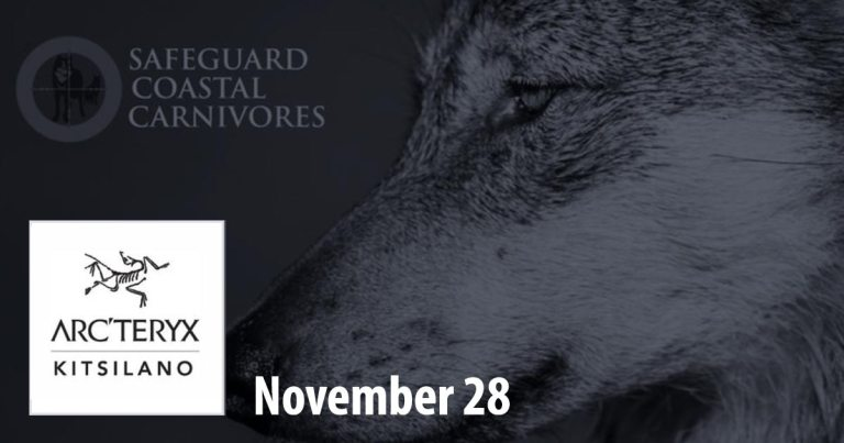 Protecting wild spaces with Arc'teryx Kitsilano on Wednesday, November 28
