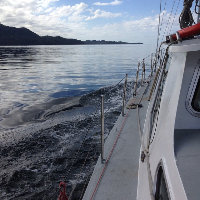 Aboard Raincoast Conservation research vessel Achiever