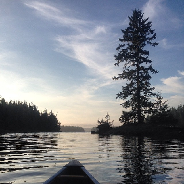 The Raincoast science research canoe