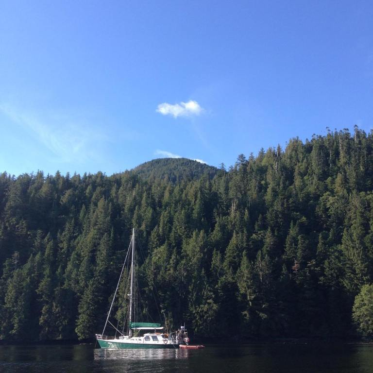 First anchorage of the September Great Bear Rainforest expedition