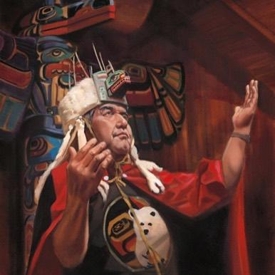 Portrait of Kitasoo/Xai'xais Hereditary Chief Charlie Mason