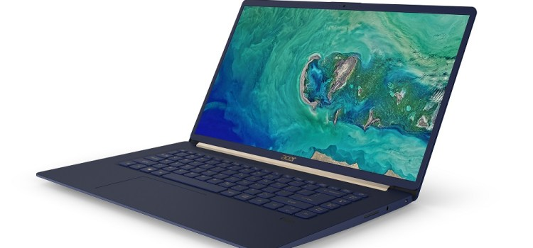 Acer Announces 15″ Swift 5 Lightweight Notebook