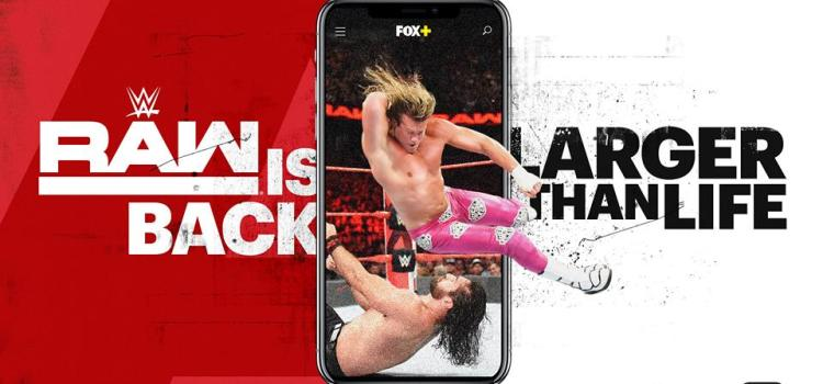 FOX+ to Exclusively Stream WWE Raw Live