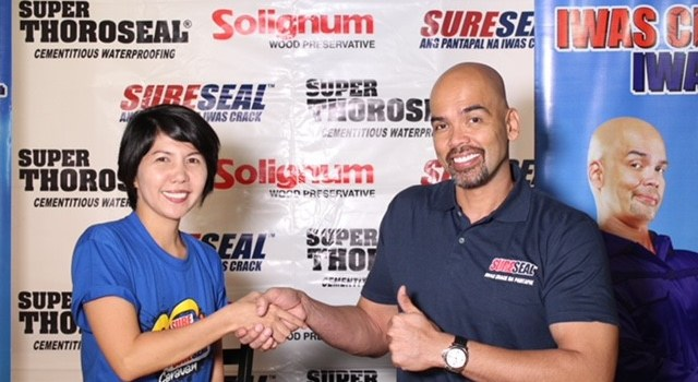 BENJIE PARAS is Sureseal Brand Ambassador for Three Years in a Row