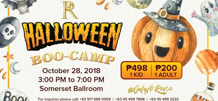 A Happy Halloween Boo-Camp Experience at Royce Hotel #OnlyAtRoyce