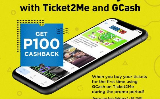 Get P100 Cashback with Your GCash Purchase on Ticket2Me