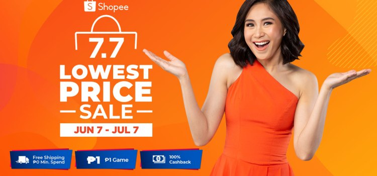 Shopee 7.7 Lowest Price Sale – Up To 90% Off and Free Shipping on July 7
