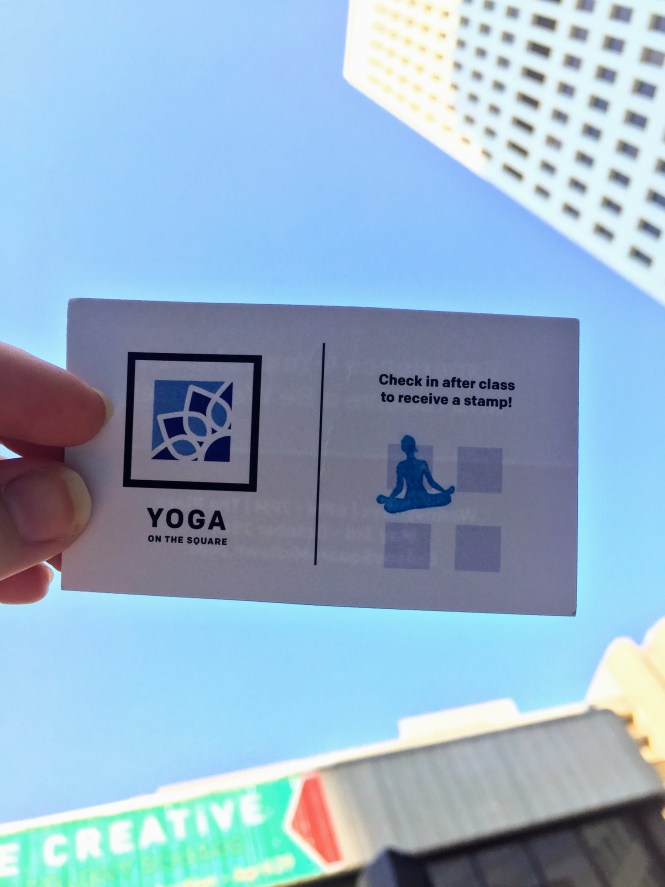 Yoga on the Square at Colony Square Midtown   Raine In The City