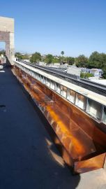custom copper box fountain rooftop - The Catch Restaurant in West Hollywood 90069